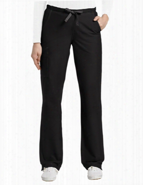 White Cross Allure Cargo Pat - Black - Female - Women's Scrubs