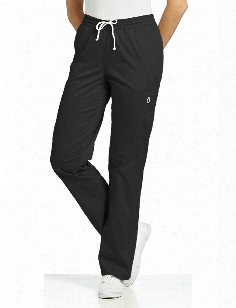 White Cross Allure Comfy Scrub Pant - Black - Female -  Women's Scrubs