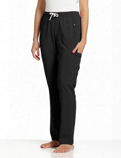 White Cross Marvella Elastic Waist Scrub Pant - Black - Female - Women's Scrubs