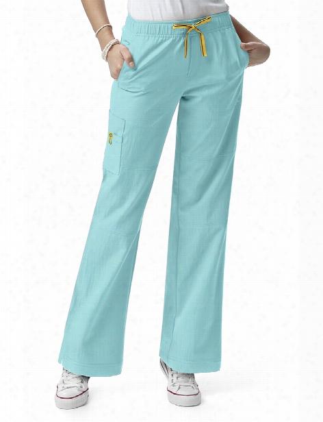 Wonderwink Four-stretch Sporty Cargo Scrub Pant - Wink Aruba Blue - Female - Women's Scrubs