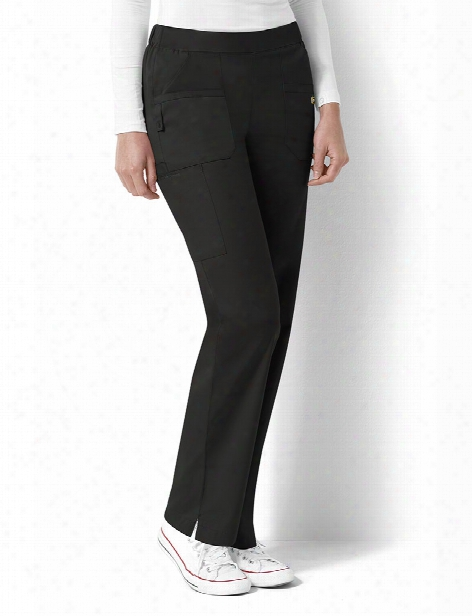 Wonderwink Next Madison Flat Front Scrub Pant - Black - Female - Women's Scrubs