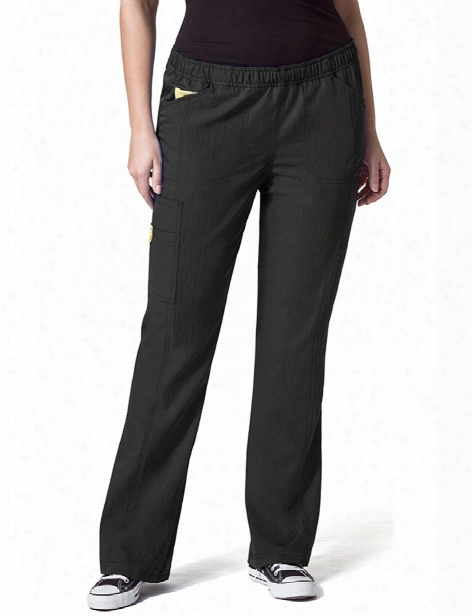 Wonderwink Plus Boot Cut Cargo Scrub Pant - Black - Female - Women's Scrubs