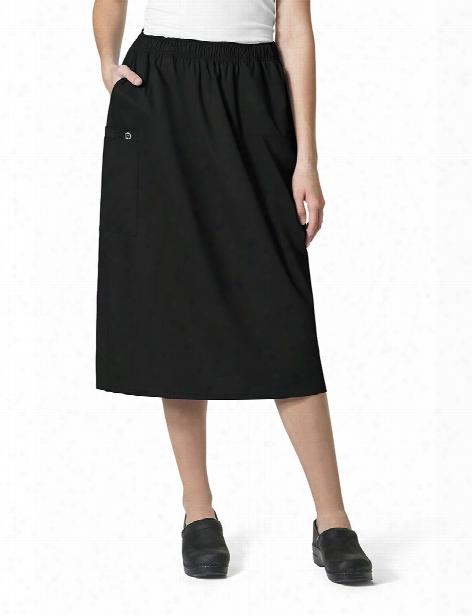 Wonderwink Wonderwork Pull On Cargo Skirt - Black - Female - Women's Scrubs