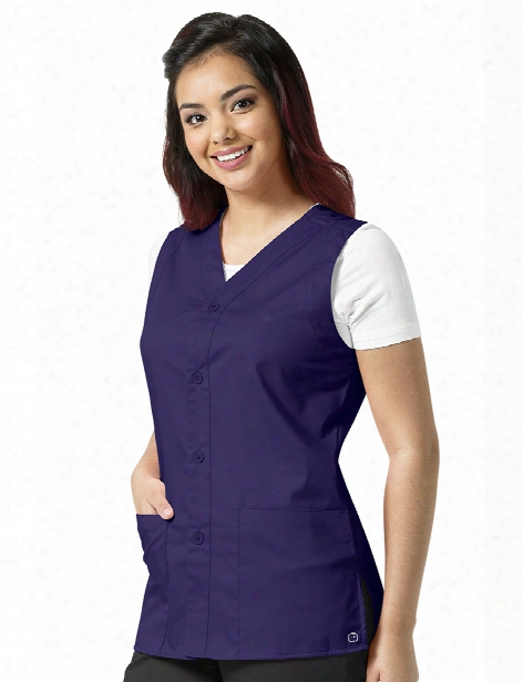 Wonderwink Wonderwork Unisex Vest - Grape - Unisex - Corporate Apparel