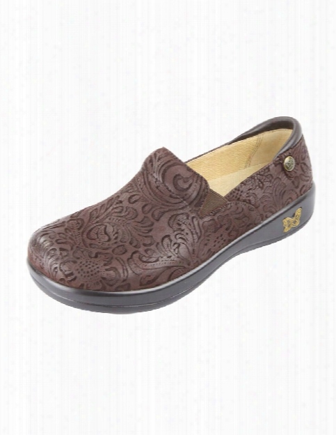 Alegria Keli Embossed Paisley Clog - Choco Embossed Paisley - Female - Women's Scrubs