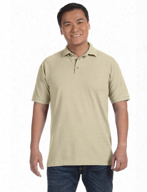 Alpha Broder Anvil Midweight Pique Polo - Cobblestone - Unisex - Corporate Apparel