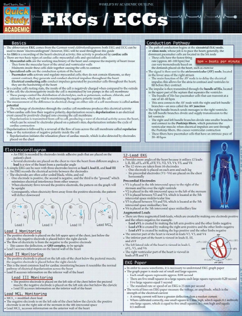 Barcharts Barcharts Ekg And Ecg Reference Guide - Unisex - Medical Supplies