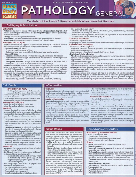Barcharst Barcharts General Pathology Reference Guide - Unisex - Medical Supplies