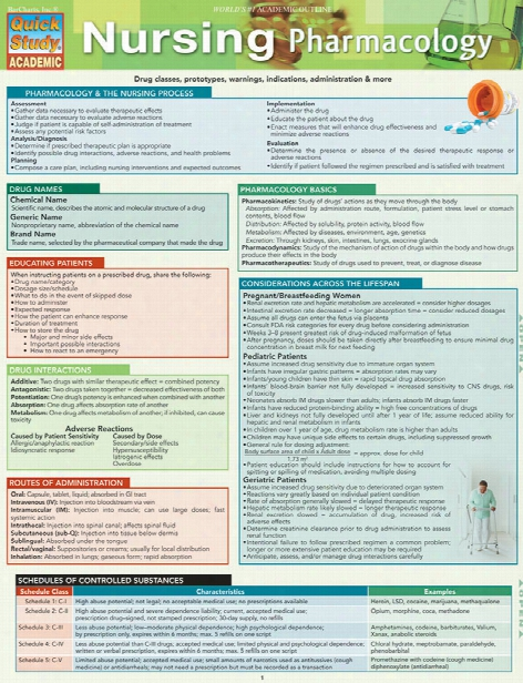 Barcharts Barcharts Nursing Pharmacology Reference Guide - Unisex - Medical Supplies