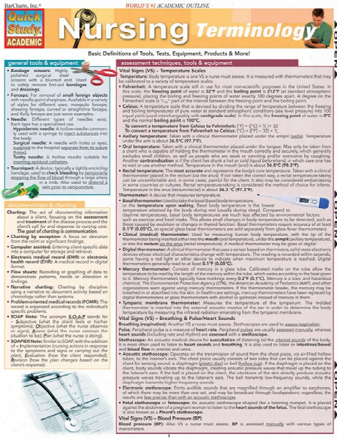 Barcharts Barcharts Nursing Terminology Reference Guide - Unisex - Medical Supplies