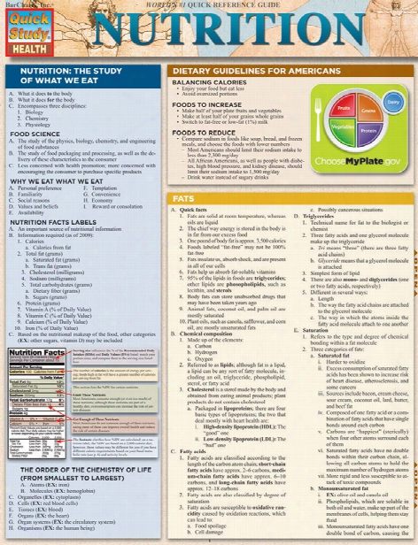 Barcharts Barcharts Nutrition Reference Guide - Unisex - Medical Supplies