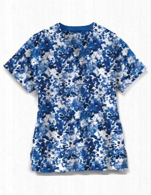 Carhartt Cross-flex Cool Mist Scrub Top - Print - Female - Women's Scrubs