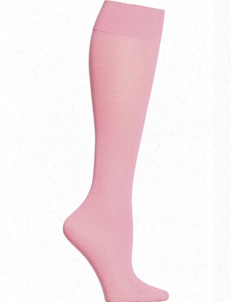 Celeste Stein Solid Color Compression Knee High Socks - Coral - Female - Women's Scrubs