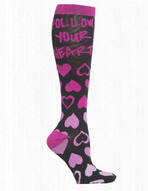 Cherokee Cherokee Follow Your Heart Compression Knee High Socks - Female - Women's Scrubs