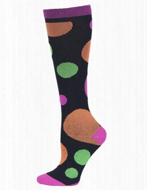 Cherokee Cherokee Polka Dot Party Compression Knee High Socks - Female - Women's Scrubs