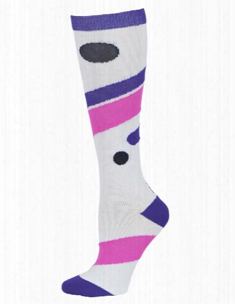 Cherokee Cherokee Purple Motion Compression Knee High Socks - Female - Women's Scrubs