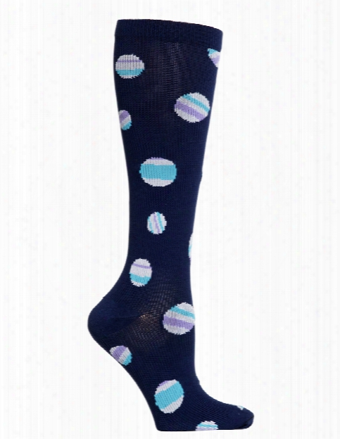 Cherokee Cherokee Stripe A Dot Compression Knee High Socks - Female - Women's Scrubs