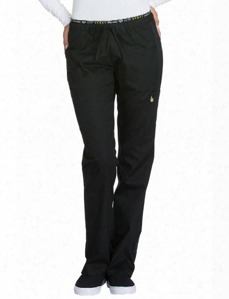 Cherokee Luxe Sport Straight Leg Scrub Pant - Black - Female - Women's Scrubs