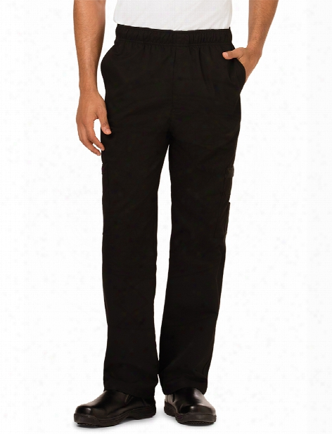 Dickies Chef Cargo Pocket Chef Pant - Black - Unisex - Chefwear