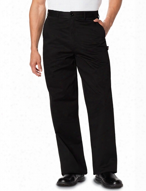 Dickies Chef Classic Dress Chef Pant - Black - Unisex - Chefwear