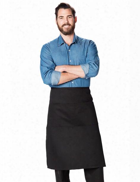 Dickies Chef Full Bistro Waist Apron - Black - Unisex - Chefwear