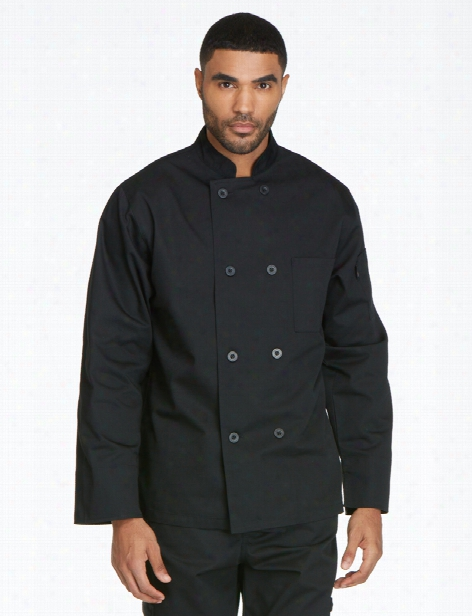 Dickies Chef Unisex Classic 8-button Chef Coat - Black - Unisex - Chefwear