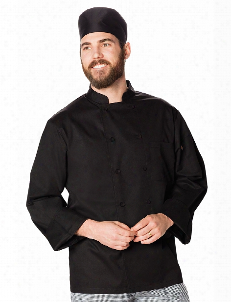 Dickies Chef Unisex Cool Breeze Chef Coat - Black - Unisex - Chefwear