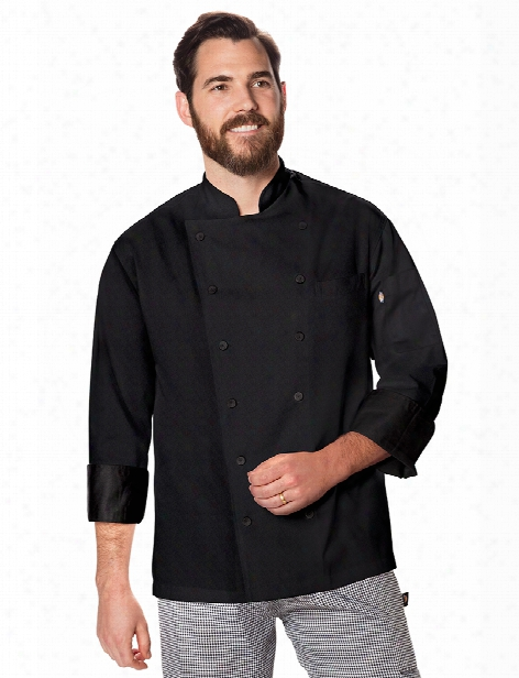 Dickies Chef Unisex Executive Chef Coat With Fluid Barrier - Black - Unisex - Chefwear