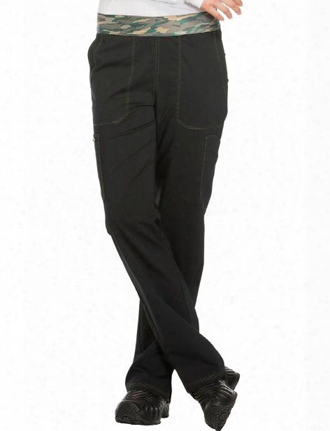 Dickies Essence Straight Leg Pull-on Pant - Black - Female - Women's Scrubs