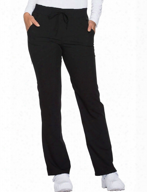 Dickies Xtreme Stretch Straight Leg Scrub Pant - Black - Female - Women's Scrubs