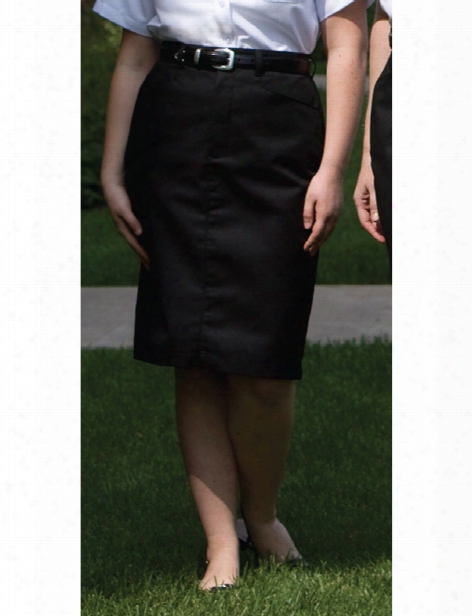 Edwards 25 Inch Chino Skirt - Black - Unisex - Corporate Apparel