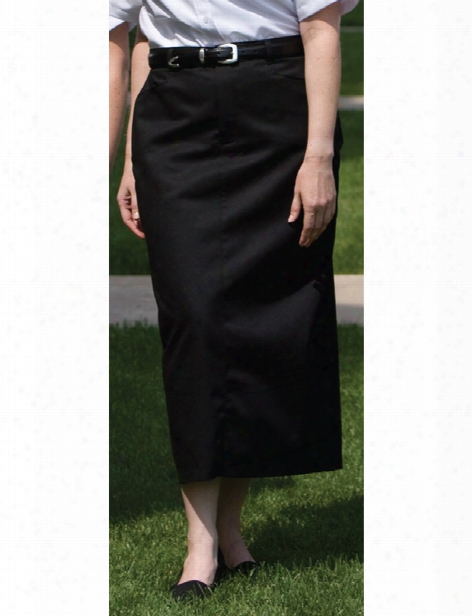 Edwards 35 Inch Chino Skirt - Black - Unisex - Corporate Apparel