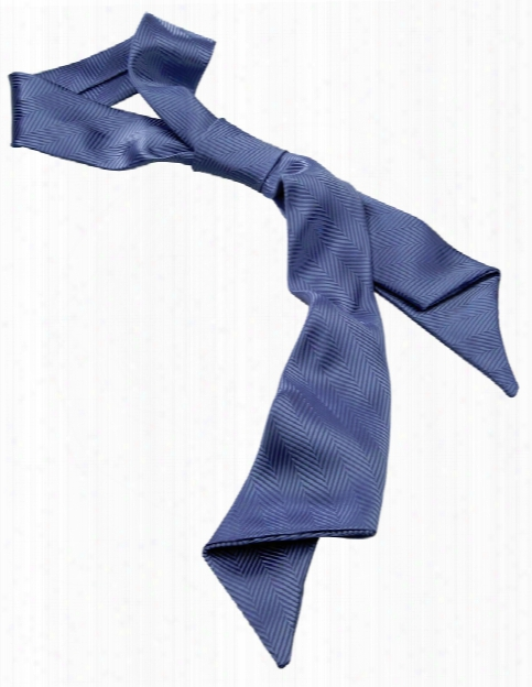 Edwards Herringbone Ascot - Blue - Unisex - Chefwear