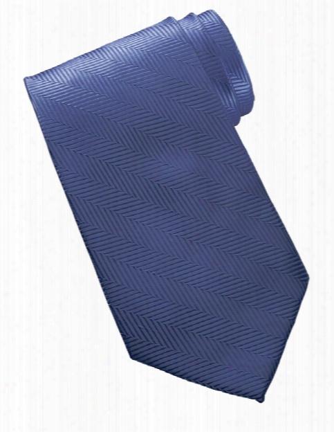 Edwards Herringbone Tie - Blue - Unisex - Chefwear