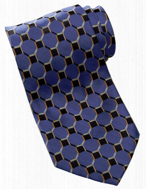 Edwards Honeycomb Tie - French Blue - Unisex - Chefwear