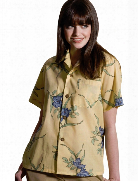 Edwards Island Camp Shirt - Banana Floral - Unisex - Corporate Apparel