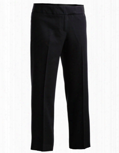 Edwards Ladies Blended Twill Flat Front Pant - Black - Unisex - Corporate Apparel