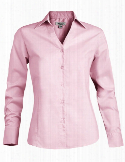 Edwards Ladies Clearance V-neck Stretch Blouse - Pink - Unisex - Corporate Apparel