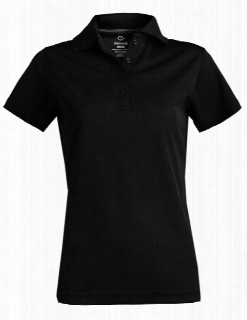Edwards Ladies Dry-mesh Polo Shirt - Black - Unisex - Corporate Apparel