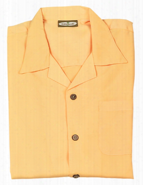 Edwards Ladies Microfiber Camp Shirt - Gold - Unisex - Corporate Apparel