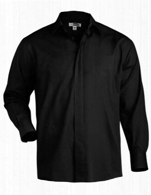 Edwards Mens Cafe Long Sleeve Shirt - Black - Unisex - Chefwear