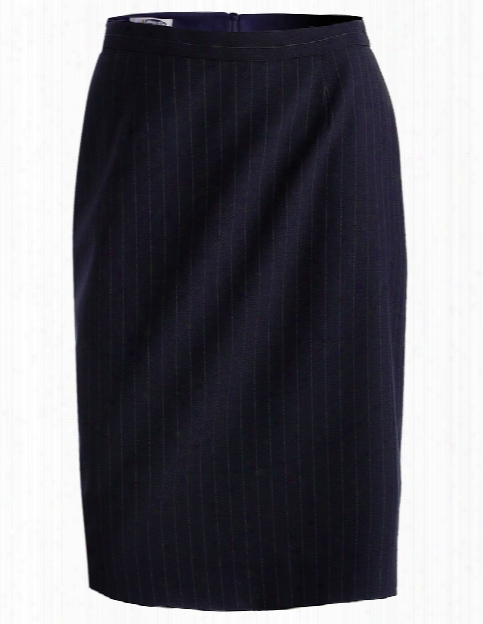Edwards Pinstripe Skirt - Navy - Unisex - Corporate Apparel