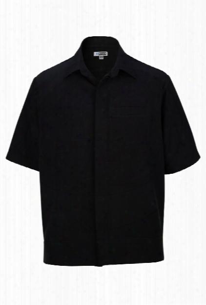 Edwards Short Sleeve Batiste Camp Shirt - Black - Unisex - Corporate Apparel