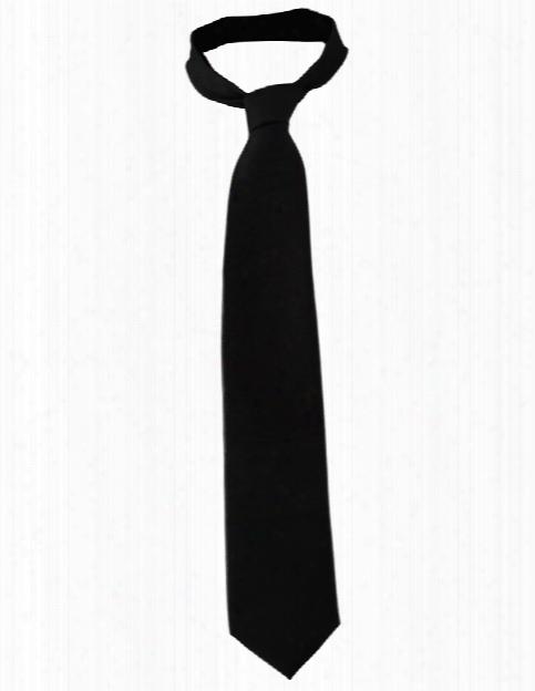 Edwards Solid Tie - Black - Unisex - Chefwear