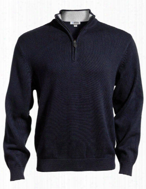 Edwards Unisex Cotton Blend Sweater - Navy - Unisex - Corporate Apparel