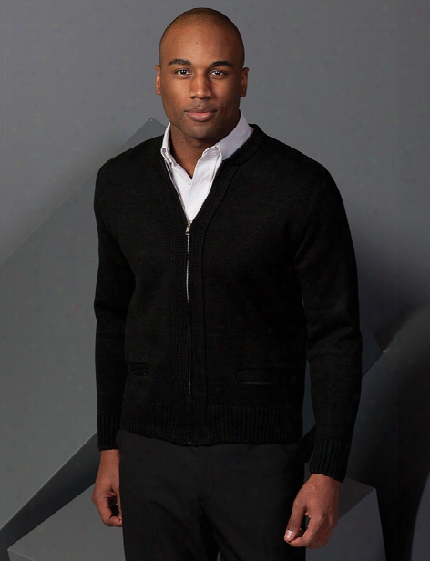 Edwards Unisex Full-zip Cardigan Sweater - Black - Unisex - Corporate Apparel