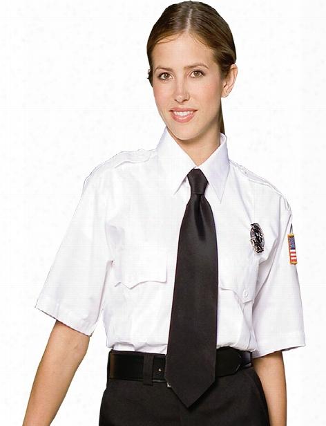 Edwards Unisex Short Sleeve Security Shirt - White - Unisex - Corporate Apparel