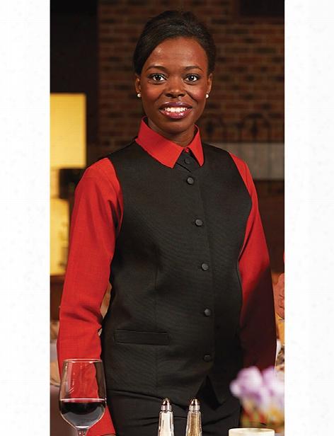 Edwards Womens Bistro Vest - Black - Unisex - Chefwear