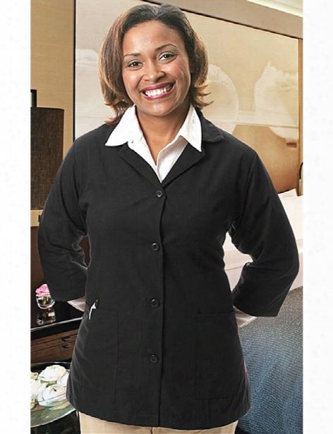 Fame 3/4 Sleeve Female Smock - Black - Unisex - Chefwear
