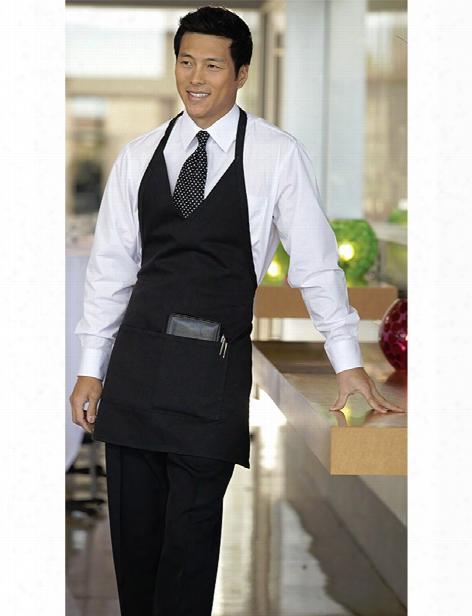 Fame Value V-neck Tuxedo Apron - Black - Unisex - Chefwear